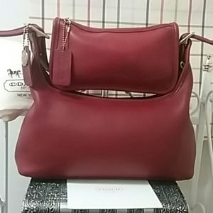 Coach Vintage Rare Red Legacy & Chunky Case Set